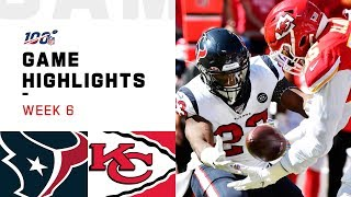 Texans vs. Chiefs Week 6 Highlights | NFL 2019