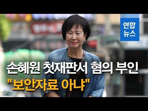 '투기 의혹' 손혜원 첫재판서 혐의 전면부인…