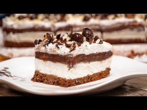 Čokoladna lazanja - ekspres brzi kolač bez kuvanja i pečenja (ENG SUB)