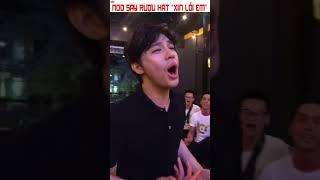 """""""Xin lỗi em"""" phiên bản say rượu của Noo Phước Thịnh"""