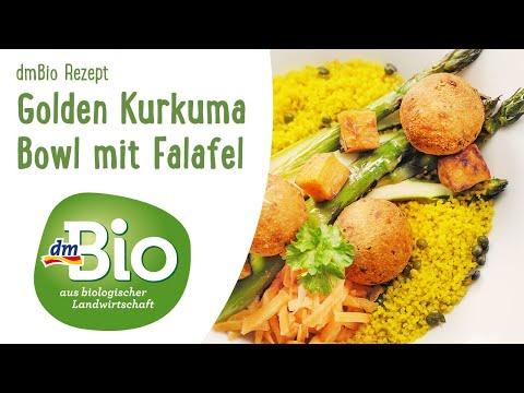 Golden Kurkuma Bowl mit Falafel