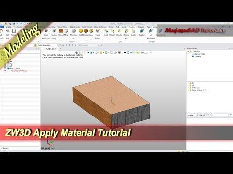ZW3D Apply Material Into 3D Model Basic Tutorial For Beginner