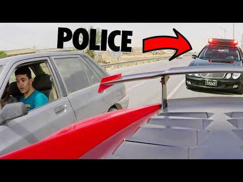 COPS GIVE UP CHASING LAMBORGHINI...