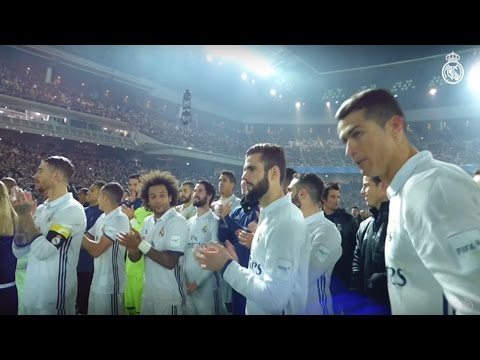 Real Madrid celebrate Club World Cup win on the pitch! ZIDANE, CRISTIANO RONALDO, RAMOS...