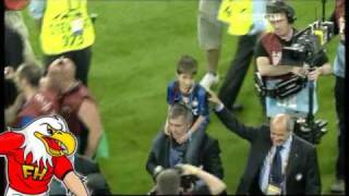 Mourinho last moments with Inter Milan after the UCL final 2010
