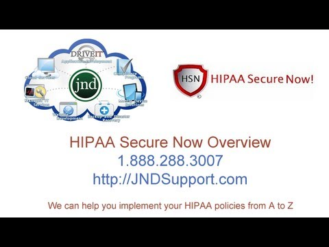 HIPAA Secure Now Overview