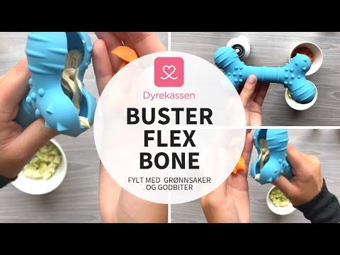 Produktvideo av Buster Flex Bone Tyggeleke Lyseblå