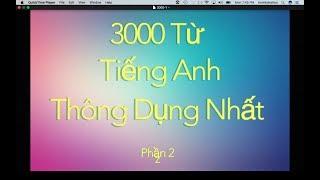 3000 Từ Tiếng Anh Giao Tiếp Thông Dụng - Phần 2
