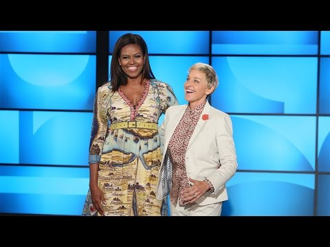 First Lady Michelle Obama Co-Hosts with Ellen!