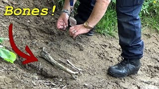 Magnet Fishing - Did i just find HUMAN REMAINS?! Police called + WWII Projectile
