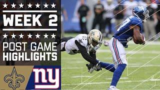 Saints vs. Giants | NFL Week 2 Game Highlights