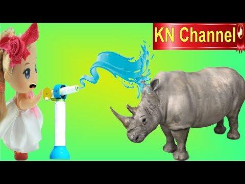BÚP BÊ KN Channel TẮM TÊ GIÁC KHI ĐI SỞ THÚ CHÂU PHI