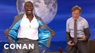 Terry Crews Makes Conan Pull A Man Booby - CONAN on TBS