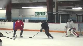 Crosby & Marchand scrimmage together