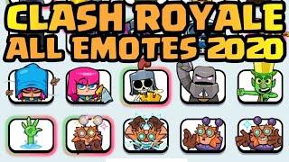 All Emotes 2020 CLASH ROYALE   October 2020 Clash Royale   All Emotes   New Emotes