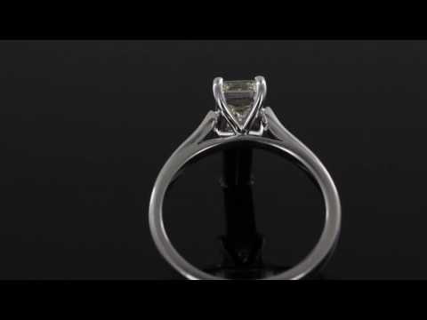 Browns Family Jewellers Emerald Cut Diamond Solitaire Ring