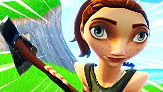 Getting a noob his FIRST WIN on Fortnite...