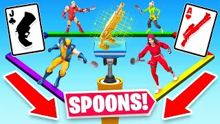 *NEW* Spoons CARD GAME in Fortnite Battle Royale