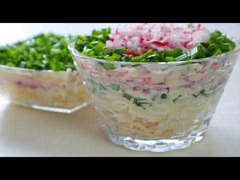 До чего же Вкусный и Нежный  Салат!Два Быстрых рецепта из простых продуктов