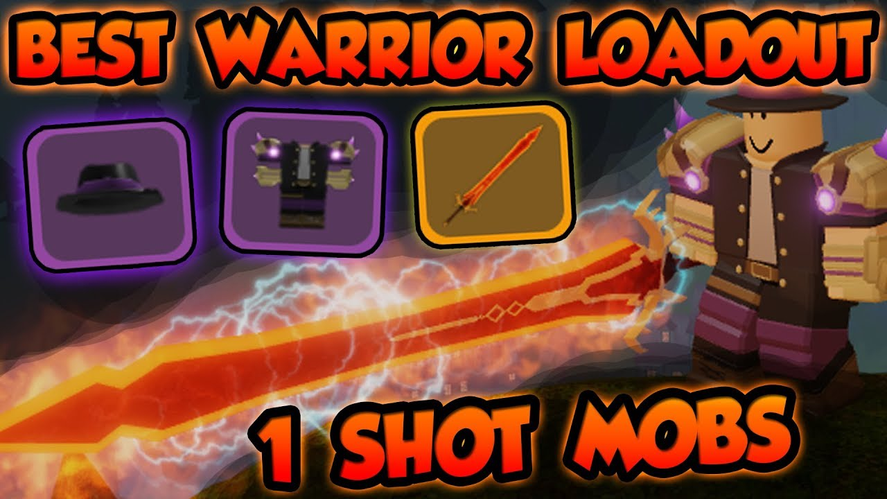 Best Possible Warrior Loadout 1 Shot Canals Mobs Roblox