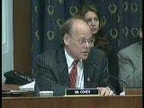 Congressman Cohen Questions David Addington - YouTube