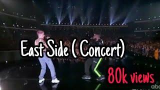 East side.  Concert AMA'S 2018 . 11/10/2018 Halsey & Khalid & Benny blanco