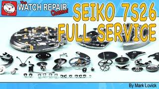 Seiko 7s26 full stripdown service, restoration and watch repair tutorial