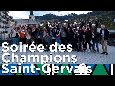 Soirée des Champions Saint-Gervais Mon-Blanc Snowboard cross Hockey Danse sur glace Curling
