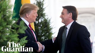 Trump holds joint press conference with Brazilian president - watch live