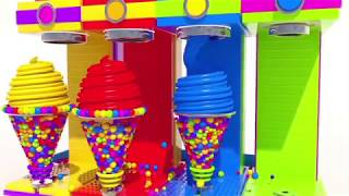 Learning Colors with Mega Soft Ice Cream | Education video | Video for kids