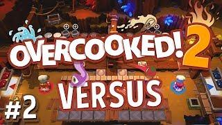 Overcooked 2 Versus - #2 - THE GOALS MOVE?! (4 Player Gameplay)