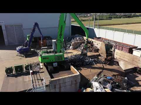 SENNEBOGEN 821 Crawler Electro - Scrap Recycling at Metall Recycling Müller-Gutenbrunn GmbH, Austria