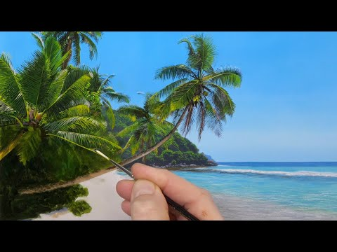 Painting a Tropical Beach Time Lapse | Episode 164