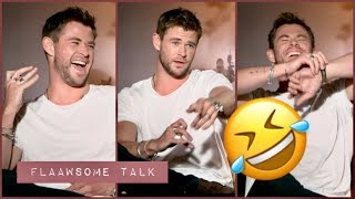Chris Hemsworth Can't Stop LAUGHING About Wife Question...