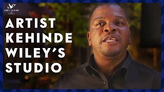 Behind the Scenes at Kehinde Wiley's Studio
