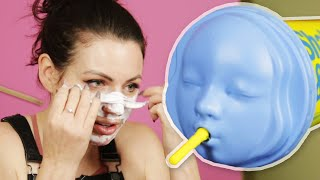 Women Try Dr. Jart's Rubber Face Masks