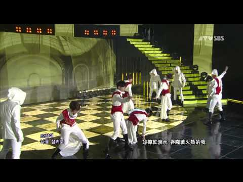 [中字LIVE] 121111 BOYFRIEND - Intro + Janus / 야누스 (Inkigayo Comeback stage)