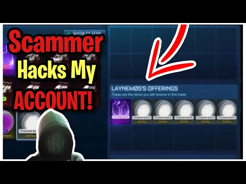 Scammer Hacks my Account After Scamming Himself! (Scammer Gets Scammed) Rocket League