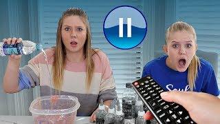 Pause Slime Challenge | Sis vs Sis | Taylor and Vanessa