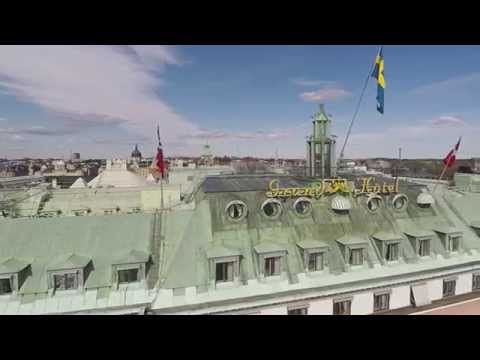 Ariel view of Destination Grand Hôtel - The center of Stockholm
