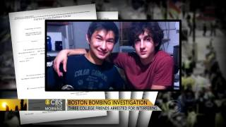 Dzhokhar Tsarnaev's friends arrested for obstruction of justice