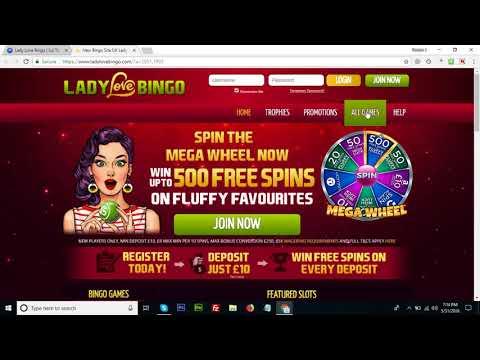 Lady Love Bingo | Up To 500 Free Spins | New Bingo Site
