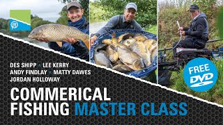 A thumbnail for the match fishing video Commercial Fishing Masterclass - Preston Innovations 2020 FREE DVD!