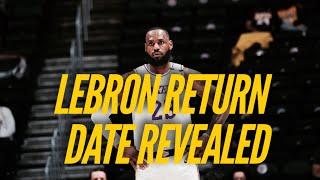 LeBron James Update: Return Date Revealed