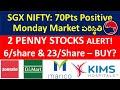 2 Penny Stocks ALERT!, MONDAY STOCK MARKET? DMART STOCK, MARICO STOCK, KIMS STOCK, ZOMATO IPO