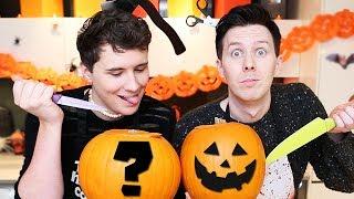 Dan and Phil try PUMPKIN CARVING!