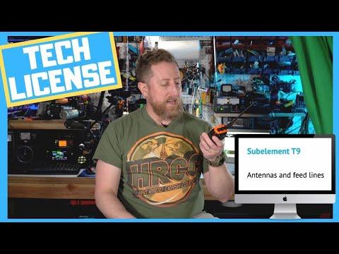 Fast Ham Radio Technician License (Antennas and Feedlines - Sub-Element T9)