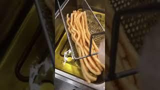 30cm long potato fries machine Potato Chips Maker, footlong potato maker