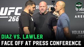 Nick Diaz vs. Robbie Lawler Face Off | UFC 266 Press Conference