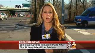 Fire Destroys New York Pool Supply Store